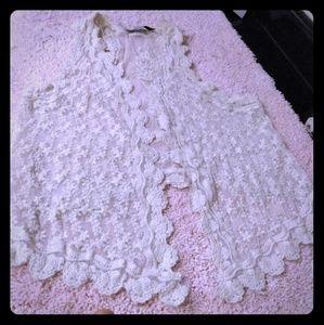 Zara Trafaluc delicate high/low lace vest